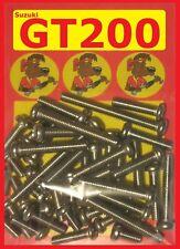 Suzuki GT200 - Crankcase Covers Kit - Stainless Philips