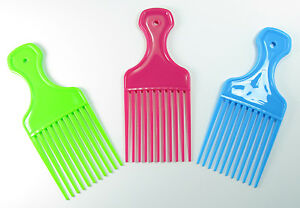 Wide tooth Afro Comb  set of three combs   Wide Teeth pocket Hair Wig Detangler