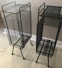 Vintage+Mid+Century+Punched+Metal+Mesh+Wire+Side+Table+Stand+Plant+Record+Atomic