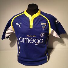 Warrington Wolves Rugby Football Puma 2006 Playoffs Blue Home Jersey Small Wire