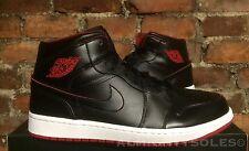 Nike Air Jordan 1 Mid UK8 EUR42.5 BLACK WHITE GYM RED 554724 028 BASKETBALL NBA