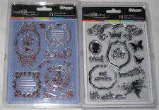 2 sandylion sandy lion clear stamp lot - PRINCESS + FRENCH IMPRESSIONS - nip