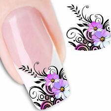 Nail Art Sticker Water Transfer Stickers Flower Decals Tips 3D Decoration IL
