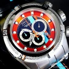 Invicta Reserve Bolt Zeus S1 Corredor Cuero Negro 52mm Suizo Mvt Reloj Crono New