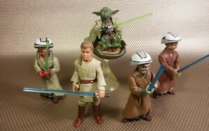 Star Wars AOTC Ashla & Jempa Jedi Padawans padawan youngling figure Set Yoda