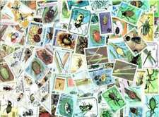 Insects on Stamps Collection - 100 Different stamps