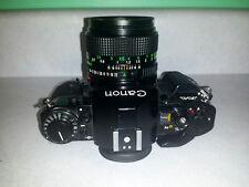 Canon A-1 35mm SLR Film Camera w/ FD 50mm F1.4 / 70-210 zoom / 28 macro MEGA PKG