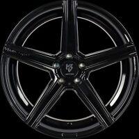MB Design KV2 Noir Brillant Jante 10.5x20 - 20 Pouces 5x120 Diamètre de Perçage