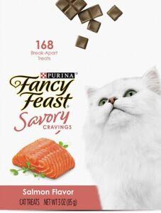 2x Purina Fancy Feast Savory Cravings Salmon 168 Break Apart Cat Treats