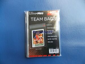 New Sealed 1 Pack (100) Ultra PRO Resealable Team Set Bags #81130
