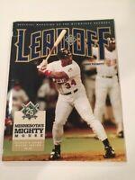 Milwaukee Brewers vs Minnesota Twins 1994 Leadoff Magazine Kirby Puckett HOF MVP