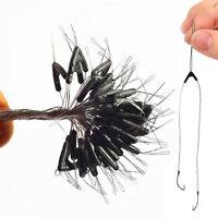Kit 50x adattatore biforcazione amo pesca pescare 2x ami su lenza