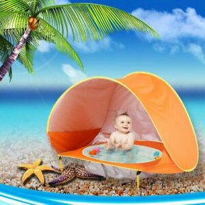 Baby Beach Tent Children Waterproof Sun Tent Uv-protecting Sunshelter With Pool