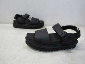 Dr. Marten's Women's US 8 Voss Leather Strap Sandals Black 23802001