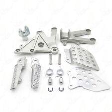 For Honda CBR600RR 03-06 04 05 Silver Front Rider Foot Pegs Bracket