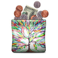 Squeeze Coin Purse PU Leather Wallet Coin Pouch Change Holder For Woman Girls