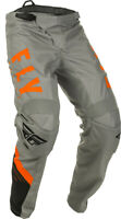 Fly Racing Mens Grey/Black/Orange F-16 Dirt Bike Pants MX ATV 2020