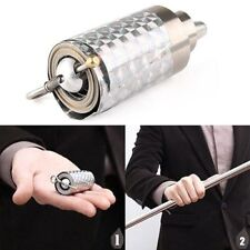 Crazy Cane Wonderful Appearing Metal Silver Magic Close Up Illusion Silk to Wand