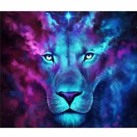 Full Drill Mosaic Lion 5D Diamond DIY Embroidery Painting Kit Cross Stitch Y4Q3