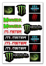 24x 16 MONSTER Motorcycle Motorbike Tuning Car Decal  Stickers Vinyl Emblem D 38