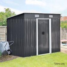 Garden Storage Shed Workshop Tool Storage Sheds Metal Base Roof Outdoor 4 x 8
