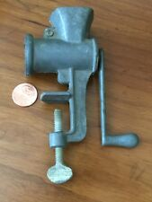 Antique Child's Toy Doll Size Mini Miniature Meat Sausage Grinder Table Tp Clamp