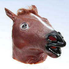Funny HORSE HEAD MASK Halloween Costume PROP - One Size