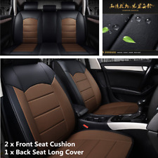 Black+Coffee Full Set Standard 5-seat Car SUV Front & Rear Seat Cover Protector