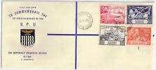 Northern Rhodesia 1949 Univesal Postal Union FDC KITWE Oct 10,