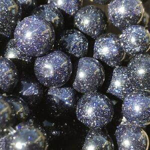 8mm Synthetic Blue Goldstone