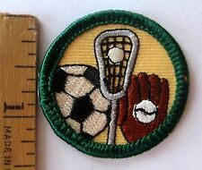 Retired Girl Scout Junior FIELD SPORTS BADGE Soccer Lacrosse Baseball Patch NEW