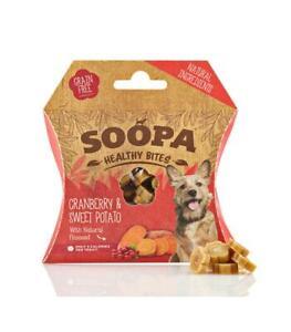 Soopa Healthy Bites ~ Natural Low Fat Dog Treats ~ Cranberry & Sweet Potato