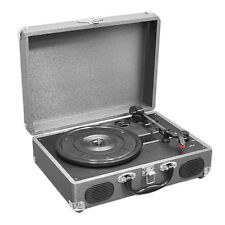 Pyle PVTT2UGR Retro Belt-Drive Turntable W/ USB-to-PC Connection - Grey