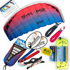 Prism Synapse 200 Coho Foil Power Stunt Kite + 75 foot Tube Tail + Padded Straps