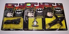 Batman Returns Batskiboat Batmobile & Penguin Commando Figures Die Cast Metal