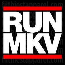 """RUN MKV"" Vinyl Decal Sticker Volkswagen VW GOLF Rabbit GTI R32 MK5 MKV"