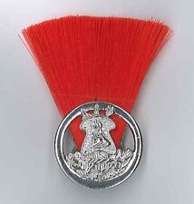 SCOUTS LESOTHO - Assistant Scout Master (RED COLOUR) Metal Plume / Hat Patch