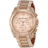 NEW Authentic Michael Kors Blair Rose Gold-Tone Chronograph Ladies Watch MK5263