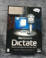 -=RARE=- MacSpeech Dictate (Mac) Apple Intel processor OSX 10.5.6 and later