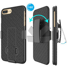 For iphone X XS 6 6S 7 8 Plus Hard Case with Kickstand Belt Clip Holster Cover