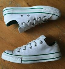 Converse All Star Low Green White UK Size 3 EU 35 Double Tongue Shoes Trainers