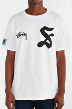 NEW WHITE STUSSY 7 T SHIRT TEE MEN'S SIZE LARGE