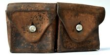 Leather Ammo Pouch Swiss 1947  -marked Settler