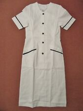 Ladies Single Breasted Dress Nurse Dentist Beauty Nail Spa Beautician Unifrom
