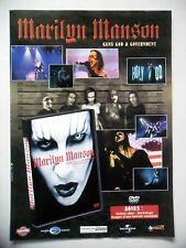 "PUBLICITE-ADVERTISING :  MARILYN MANSON  12/2002 pour ""Guns God & Government"""