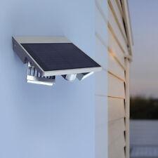 Lutec Ghost Solar P9012 LED Außenleuchte Wandleuchte silber