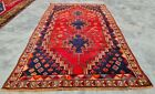 Authentic Hand Knotted Vintage Shrz Wool Area Rug 6 x 3 FT (12502 KBN)