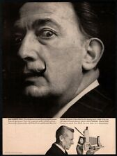 1960 POLAROID Land Camera - Famous Spanish Artist SALVADOR DALI  VINTAGE AD