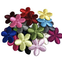 10PC Small Daisy Embroidery Flower Applique Patch Iron on Badge DIY Sewing Decor