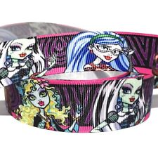 "GROSGRAIN RIBBON 1"" Monster High Girls Cartoon Printed ( FREE SHIPPING )"